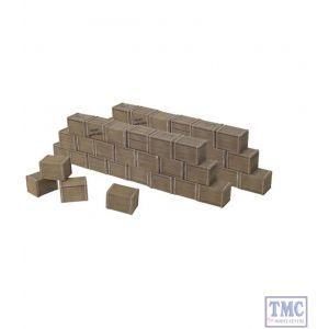 B20050 W.Britain Biscuit Box Wall Sections 6 Piece Set Zulu War Collection Matte