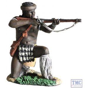 B20117 W.Britain Zulu uDloko Regiment Kneeling Firing Percussion Rifle 1 Zulu War Collection Matte
