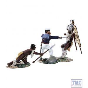 B20129 W.Britain Seaman Aynsley's Demise 3 Piece Set Ltd. Ed. 500 Zulu War Collection Matte