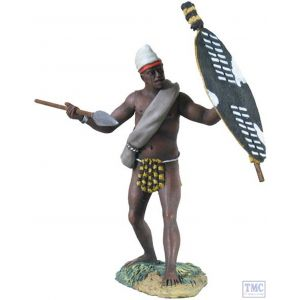 B20134 W.Britain Natal Native Contingent with Spear Zulu - Matte