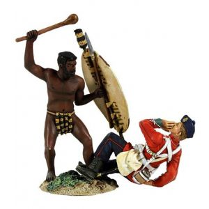 B20148 W.Britain Overwhelmed 2 Piece Set Zulu War Collection Matte
