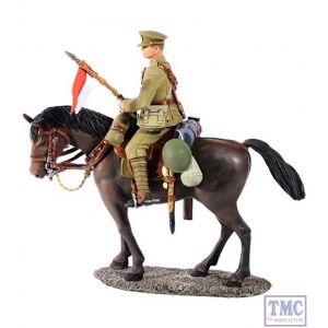 B23062 W.Britain 1916-18 British Lancer Mounted 1 2 Piece Set World War I Collection