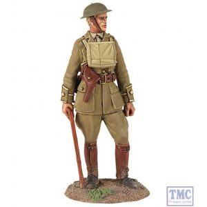 B23075 W.Britain 1916-18 British Infantry Officer Standing with Walking Stick World War I Collection