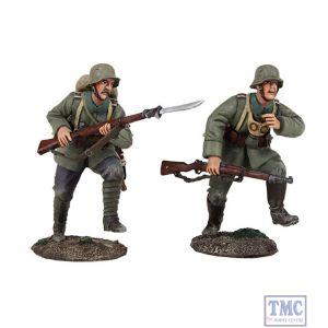 B23097 W.Britain Attack 1916-18 German Infantry Assault Team 2 Piece Set World War I Collection