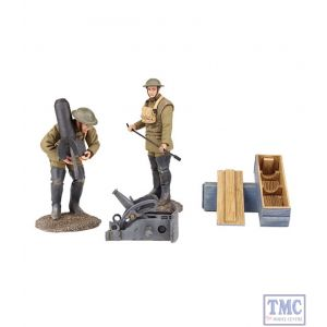 B23108 W.Britain 1917-18 U.S. Mortar Crew 5 Piece Ltd. Ed. of 450 Sets World War I Collection