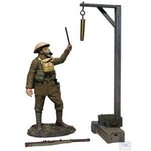 "B23115 W.Britain ""Gas Alarm"" British Soldier Sounding Alarm 1917-18 3 Pce Set World War I"