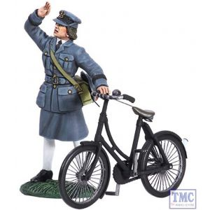 B25018 W.Britain RAF Commemorative Set WAAF with Bicycle 1943 World War II Collection