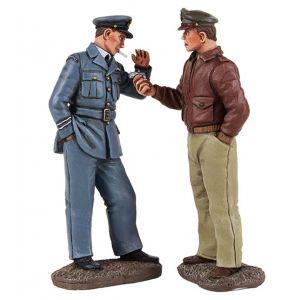 B25029 W.Britain Got A Light? Pilots Lighting Cigarette 2 Piece Set World War II Collection