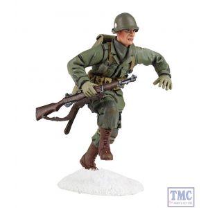 B25045 W.Britain U.S. 101st Airborne Infantry Running 1 Winter 1944-45 World War II Collection