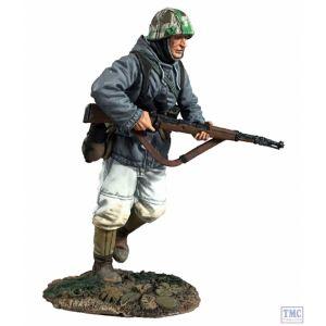 B25062 W.Britain German Volksgrenadier in Parka Running with K-98 No.1 - WW11