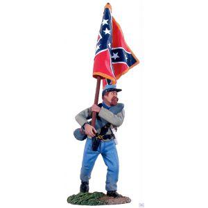 B31012 W.Britain Confederate Infantry Flagbearer Advancing ANV Battle Flag American Civil War