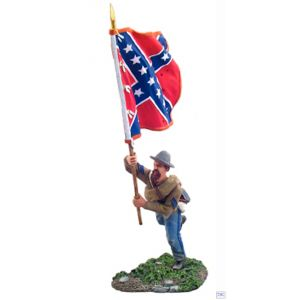 B31042 W.Britain Confederate Infantry Flagbearer Charging 1 American Civil War Collection