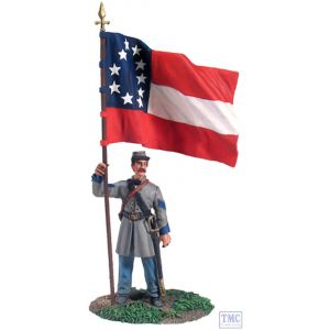 B31132 W.Britain Confederate Infantry Color Sergeant At Rest 1 American Civil War Collection