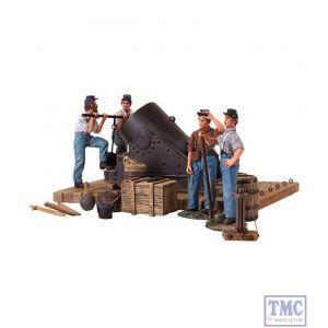 B31134 W.Britain Civil War 13 Mortar and Crew- 5 Piece Set Ltd. Ed. 500 American Civil War Collection