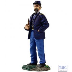 B31147 W.Britain Federal Infantry Officer Standing Wearing Sack Coat & Pipe American Civil War Collection