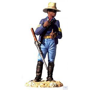 B32000 W.Britain Dismounted 9th Cavalry Trooper No.1 Dirty Shirt Blue
