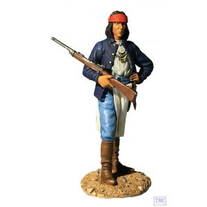 B32002 W.Britain U.S. Army Apache Scout 1880's Dirty Shirt Blue
