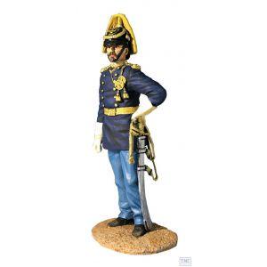 B32003 W.Britain Captain Myles Keogh 7th Cavalry 1876 Dirty Shirt Blue