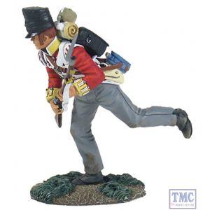 B36123 W.Britain British 44th Foot Light Company Crouching Running Napoleonic Collection