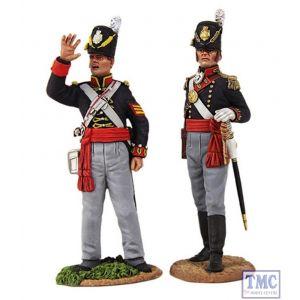 B36126 W.Britain Royal Artillery Officer & NCO Signalling Ltd. Ed. 400 Napoleonic Collection