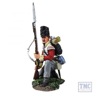 B36158 W.Britain British 44th Foot Light Company Kneeling Defending Napoleonic