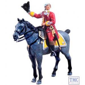B47034 W.Britain British 35th Regiment of Foot Officer Mounted 2 Piece Set Redcoats Collection