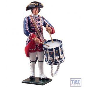 B47039 W.Britain Compagnies Franches de la Marine Drummer 1754-1760 Redcoats & Bluecoats Collection