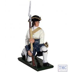 B47054 W.Britain Compagnies Franches de la Marine Kneeling 1754-1760 Redcoats & Bluecoats Collection