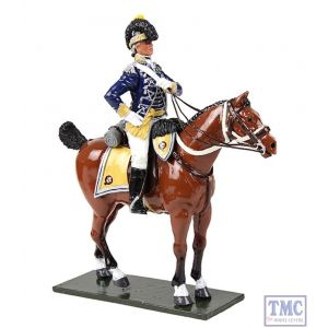 B47060 W.Britain British 10th Light Dragoons Officer Mounted 1795 Regiments Classic Collection