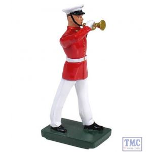 B48506 W.Britain United States Marine Corps Commandant's Own Bugler Ceremonial Collection