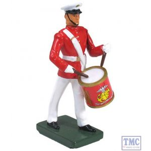 B48508 W.Britain United States Marine Corps Commandant's Own Side Drummer Ceremonial Collection