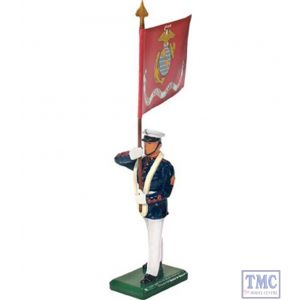 B48511 W.Britain United States Marine Corps Standard Bearer USMC Flag Ceremonial Collection