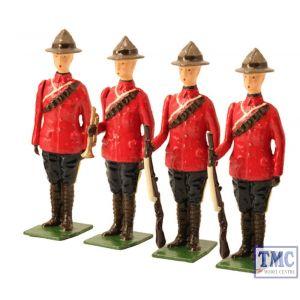 B49017 W.Britain Royal Canadian Mounted Police Set