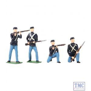 B49027 W.Britain American Civil War Union Infantry Set 4 Piece Set Archive Collection