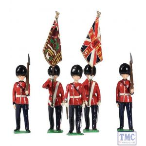 B49037 W.Britain British Scots Guards Colour Party 5 Pc Ltd.Ed. 300 Archive Collection