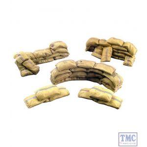 B51003 W.Britain Mealie Bag Wall Curved & Short Straight Sections 5 Piece Set Zulu War Collection Matte