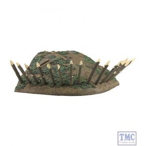 B51027 W.Britain 18th/19th Century Redoubt Corner Section with Base Cut Outs Tactical Scenes Collection
