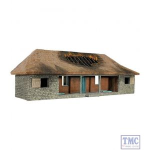 B51029 W.Britain Rorke's Drift Hospital Version 2 with Burned out Roof Zulu War Collection Matte