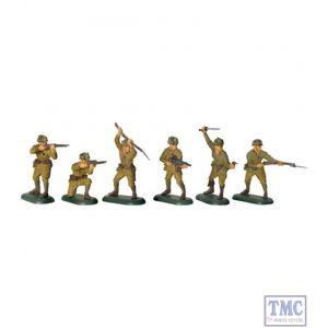 B52011 W.Britain WWII Japanese Infantry Set 1 Super Deetail Plastics