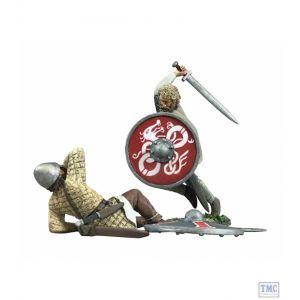 B62115 W.Britain _The Contest Decided' Viking & Saxon Set No.1 2 Pc LE 350 - Wrath of the Northmen