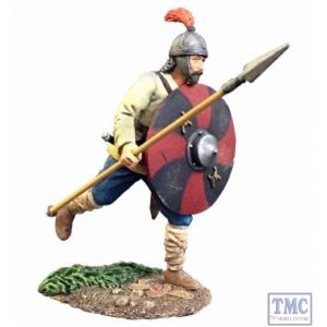 B62116 W.Britain Saxon Warrior Running with spear No.1 (Osgar) - Wrath of the Northmen