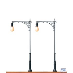 BR5822 BRAWA OO/HO Scale One-arm Park Lamp, Pin-Socket, LED (2 Pack)