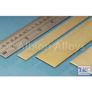 BS2M Albion Alloys Brass Strip 12 x 0.4 mm 4 Pack