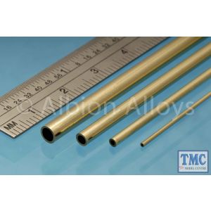BT1M Albion Alloys Brass Tube 1 x 0.25 mm 4 Pack