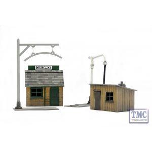 C011 Dapol OO Gauge Trackside Accessories Buildings (x 2) Plastic Kit
