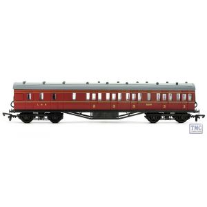 C098A Dapol OO Gauge 57Ft Stanier Non Corr Brake 3Rd LMS Maroon Lined 25270 Plastic Kit