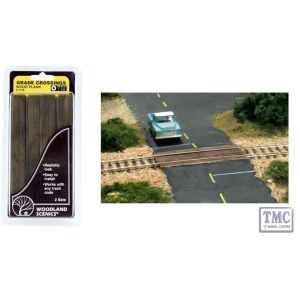 C1145 Woodland Scenics O Wood Plank Grade Crossing