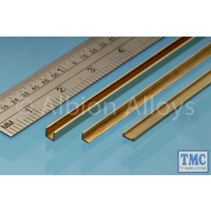 CC3 Albion Alloys Brass C Channel 1 x 3.0 x 1 mm 1 Pack