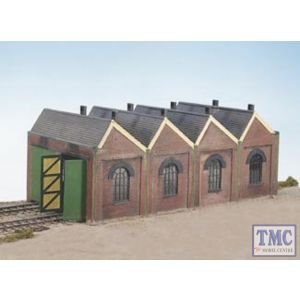 CK12 Wills Two Road Engine Shed Plastic Kit Crafstman Series OO Gauge