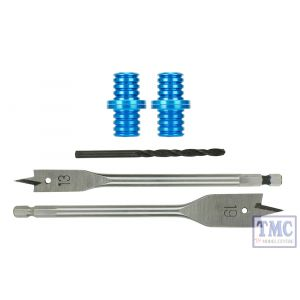 DCB-BDkit DCC Concepts N/HO/OO Scale 2 Pairs of Baseboard Dowels with Drills